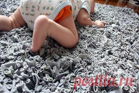 коврик на пол из трикотажа своими руками мк.
