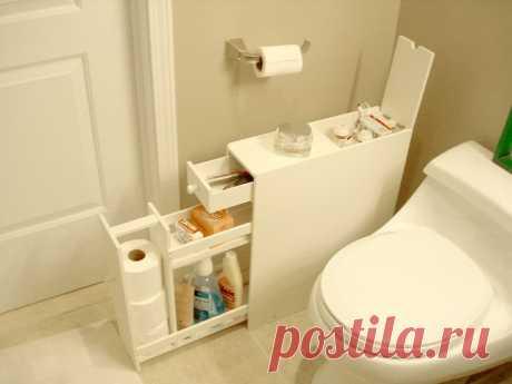 Идеи, которые можно использовать, когда места в ванной не хватает — Сделай сам, идеи для творчества - DIY Ideas