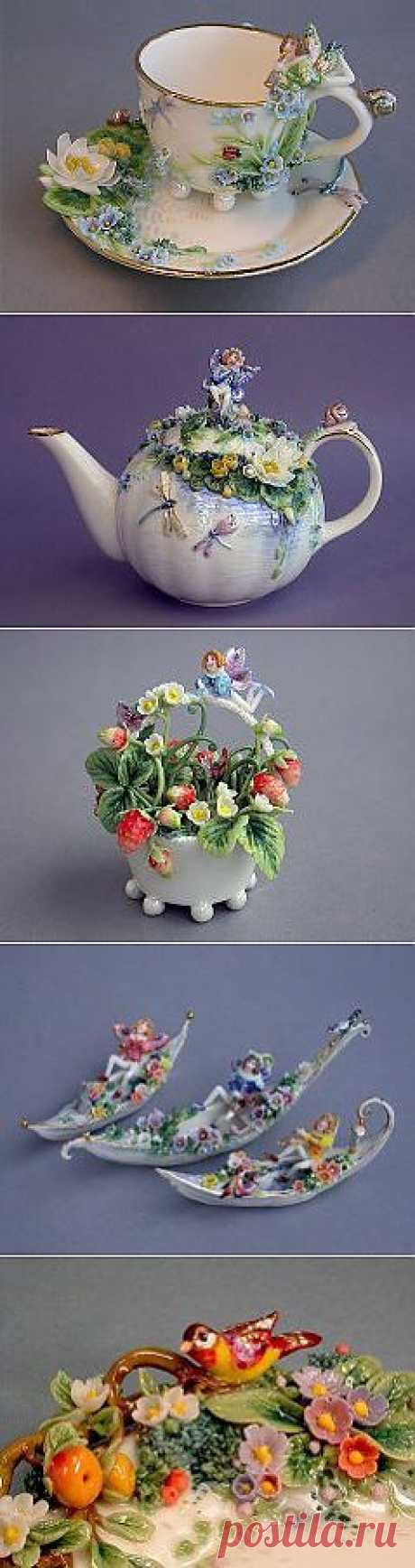 цветочный фарфор