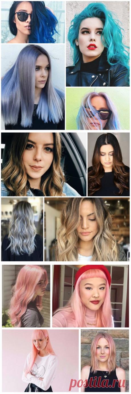Модный цвет волос 2017-2018 - тенденции, фото идеи как покрасить волосы