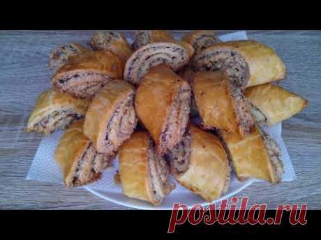 Восточная сладость! Слоеное печенье с ореховой начинкой!