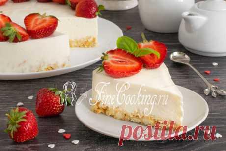 Чизкейк творожный без выпечки Нежный десерт без выпечки, который оценят любители блюд из творога.
