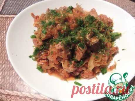 Солянка из свинины с квашеной капустой - кулинарный рецепт