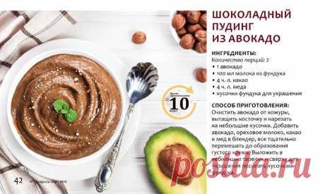 Шоколадный пудинг из авокадо
