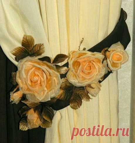 Подхваты розы для штор мастер класс — Санком НН