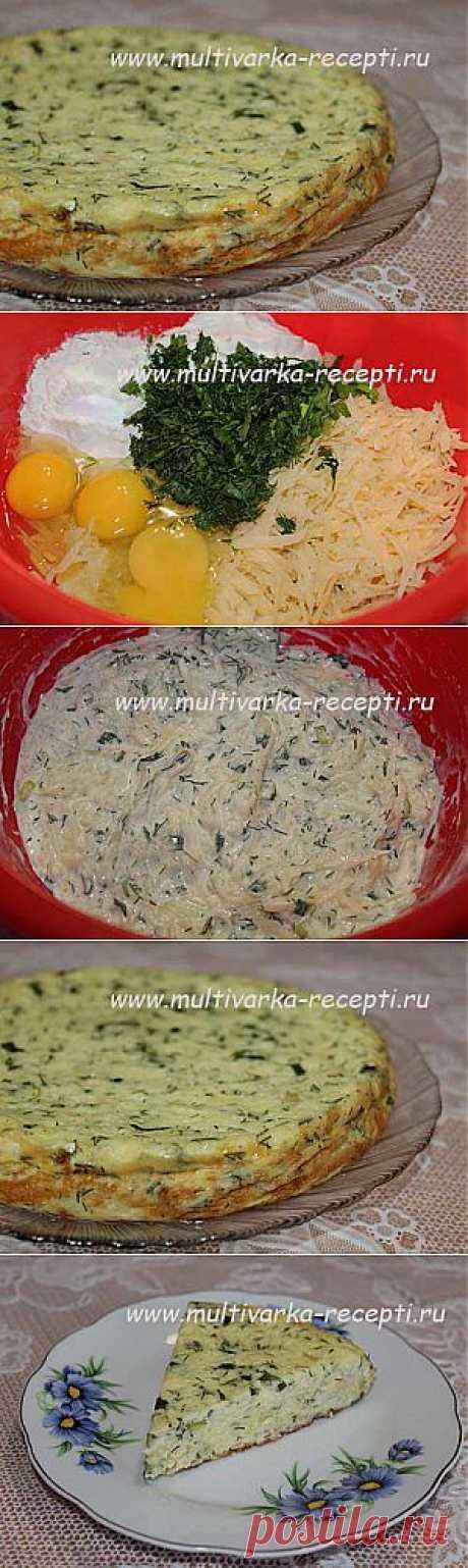 Запеканка из кабачков с сыром в мультиварке |