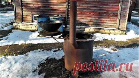 Печь для казана и жаровни. Правильная жарка щуки | Хозяйство Воронова | Яндекс Дзен