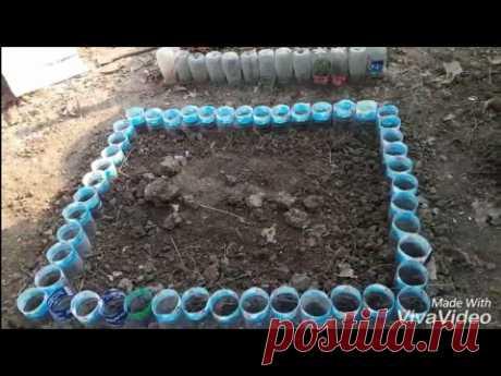 ทำแปลงผักจากขวดน้ำพาสติก DIY