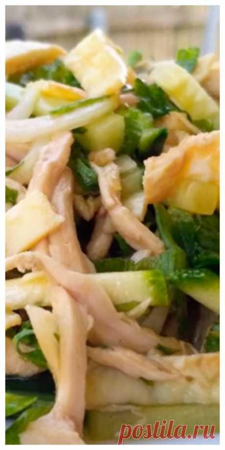 Обалденный салат без майонеза - Женский сайт Необычная заправка придает салату оригинальный вкус и делает его ничем не уступающим...