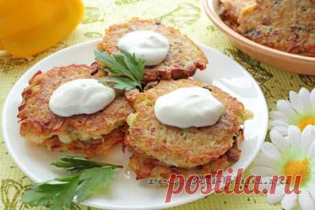Картофельные драники с грибами Рецепт