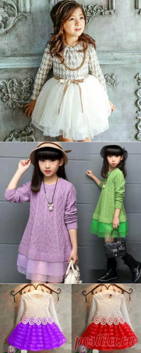 5 красивых и модных платьев для девочек, которые можно связать самим. Фото и схемы-подсказки | Поделки, рукоделки, рецепты | Яндекс Дзен
