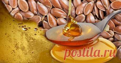 Мёд + семена льна = чистое удовольствие для желудочно-кишечного тракта Природный источник омега-3.