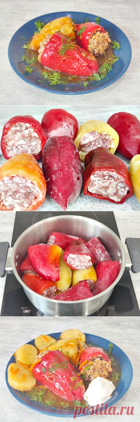 Фаршированный перец в томатом соусе - Oбжорка Gluttony.ru