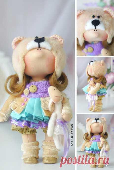 Handmade Art Doll Interior Tilda Doll Fabric Decor Doll   Etsy