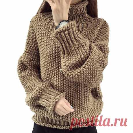 Пуловер оверсайз с жемчужным узором, описание