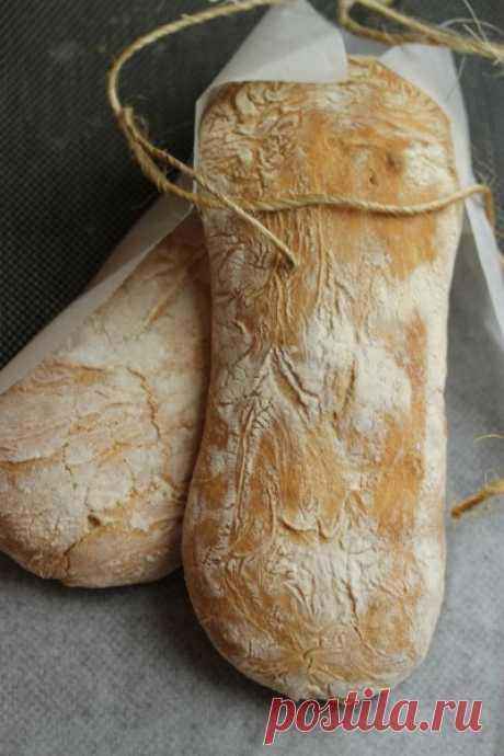 Чиабатта.         Мое самое любимое занятие в кулинарии- выпечка хлеба. Ни одно другое кулинарное творение не приносит столько удовольствия  и положительных эмоций.