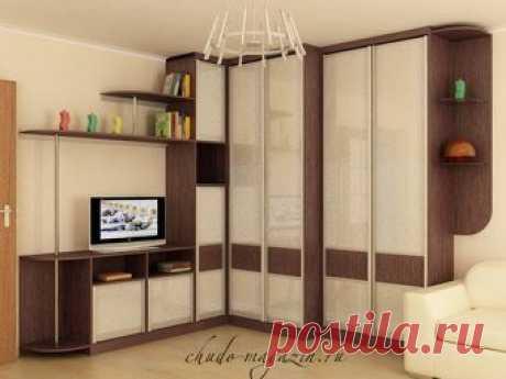 Угловой шкаф со стенкой-горкой под заказ в Москве: фото, дизайн, вид, конструкция, макет, примеры