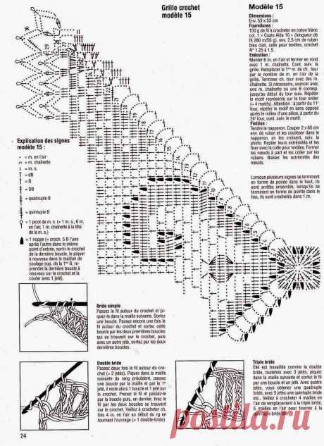 Филейное вязание крючком: схемы салфеток (бесплатно)