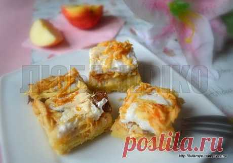 Яблочный пирог со взбитыми белками | 4vkusa.ru