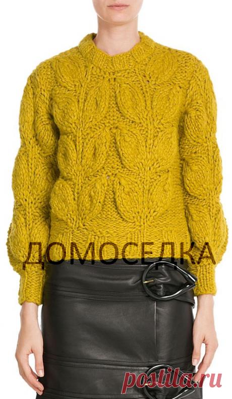 Модны свитер спицами | ДОМОСЕДКА