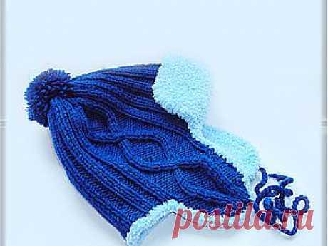 Зимняя вязаная шапочка на ребенка 1,5 - 2-х лет - Ярмарка Мастеров - ручная работа, handmade