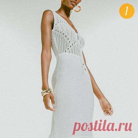 Вязаные платья для жаркого лета: женственные новинки и немного ретро | Вязунчик — вяжем вместе | Яндекс Дзен