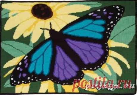 Плед крючком «Бабочка»