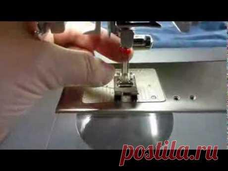 Как шить на машинке двойной иголкой - YouTube