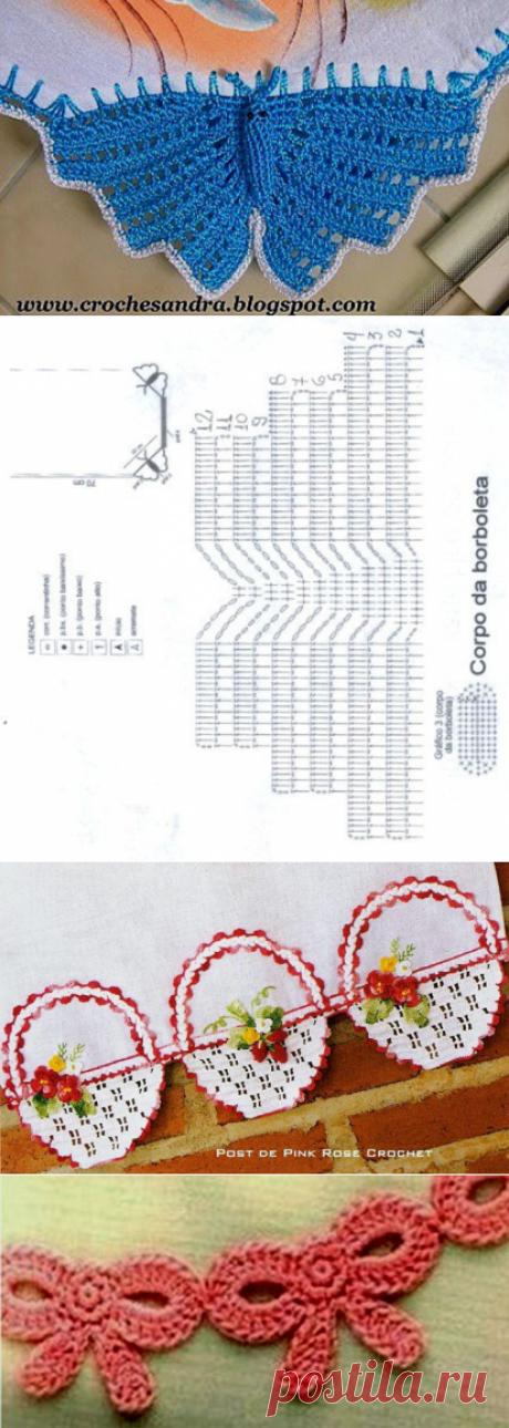 Декоративная кайма крючком + схемы № 1