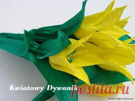 Цветы из гофрированной и креповой бумаги | Записи в рубрике Цветы из гофрированной и креповой бумаги | Вдохновлялочка Марриэтты