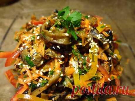 Баклажаны по-корейски - Пошаговый рецепт с фото   Закуски