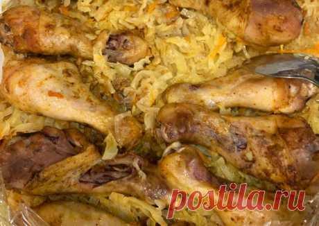 (21) Курица с капустой в рукаве - пошаговый рецепт с фото. Автор рецепта Елена Кузьмина . - Cookpad