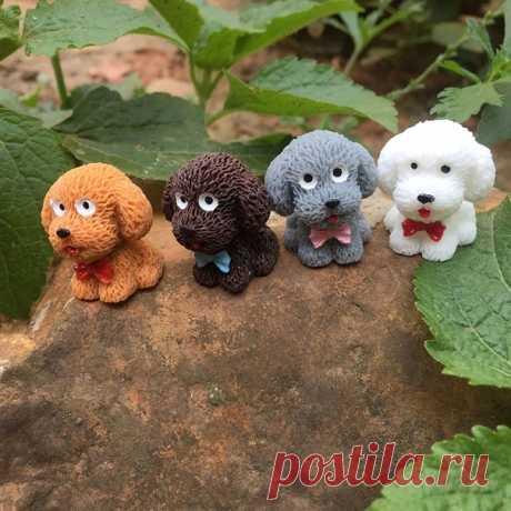 Миниатюрные собачки для декора  https://s.click.aliexpress.com/e/b90tZWno?product_id=..
