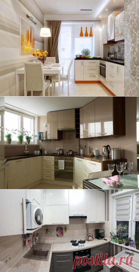 Дизайн кухни 7 кв. м: фото новинки 2019 с холодильником, идеи для интерьера