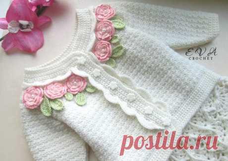 Chaqueta y Falda para Niña a Crochet ⋆ Manualidades Y DIYManualidades Y DIY