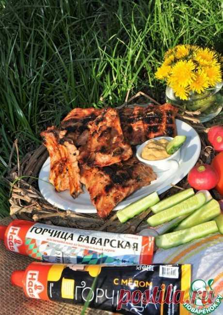 Свиные ребра с яблочно-горчичным соусом – кулинарный рецепт