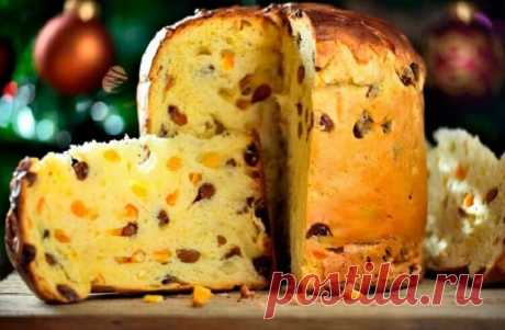 Итальянский пасхальный кекс Панеттоне (быстрый рецепт). Готовлю постоянно! — Лайм