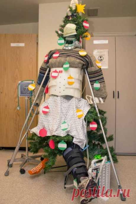 В больницах тоже готовятся к Новому году (21 фото) . Тут забавно !!!