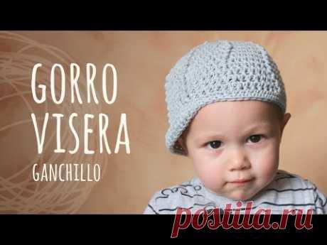Tutorial Gorro Con Visera Ganchillo | Crochet (Todas las Tallas) - YouTube
