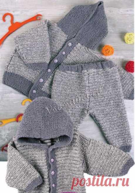 Жакет и штанишки на малыша - Кофточки, жакеты для малышей спицами