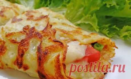 Картофельная закуска с начинкой