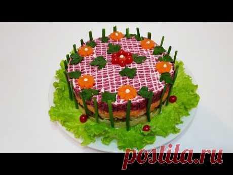 ВИНЕГРЕТ ПРАЗДНИЧНЫЙ ( salad of beetroot festive )