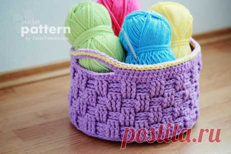 """Big Knitted Basket (About the Sample 009) \""""the Zoom the Yum-yum – Knitting, Food, the Photo"""