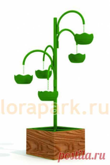ЛИАНА-5, конструкция, цветочница вертикального озеленения с термо-чашами - завод МАФ Lora-Park