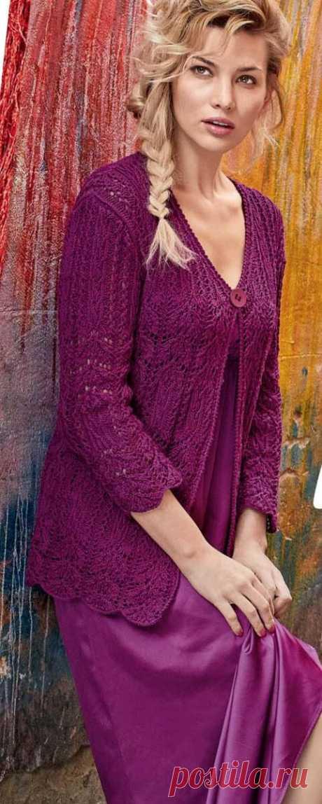 Палитра весенней природы — ажурные узоры, модели спицами в фиолетовых, лиловых оттенках | Ирина СНежная & Вязание | Яндекс Дзен