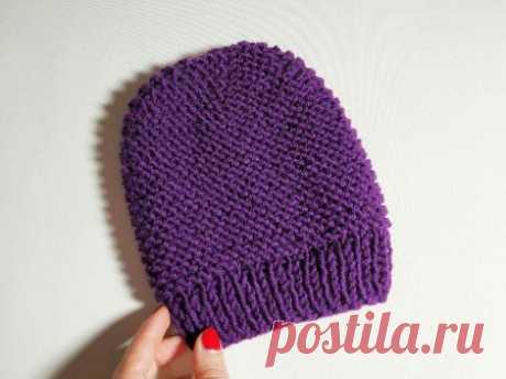 Модно и просто. Вяжем шапку на 2 спицах » «Хомяк55» - всё о вязании спицами и крючком