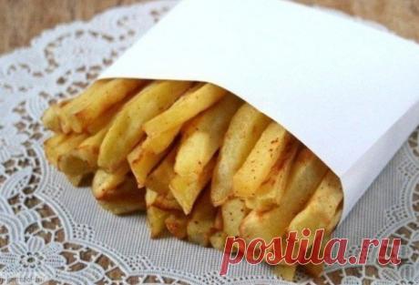 Хрустящий и румяный картофель фри без грамма масла!
