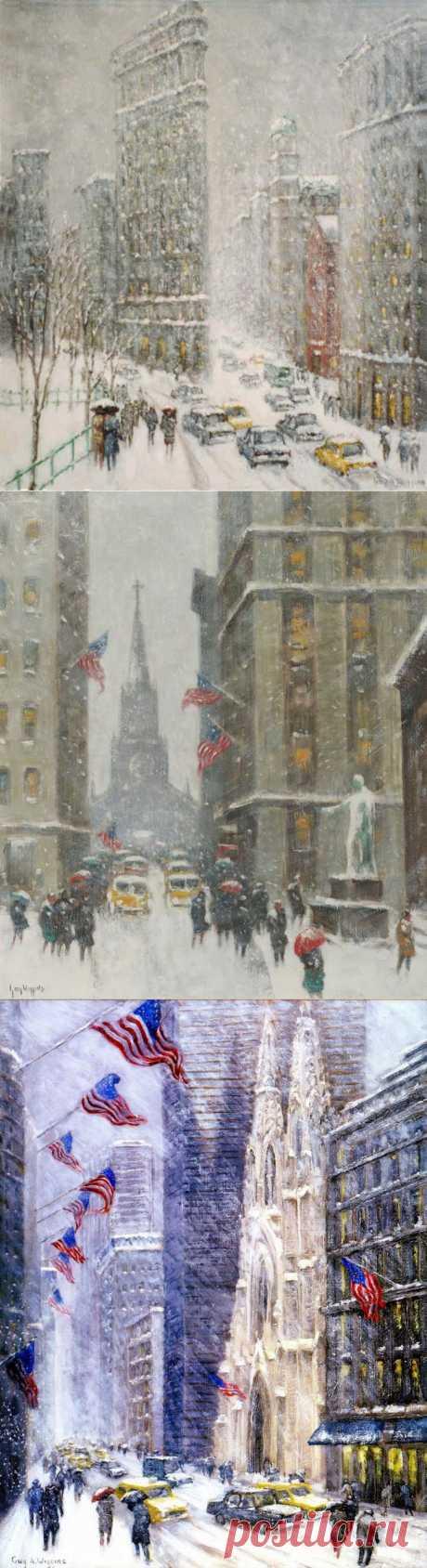 Зимний город. Гай Карлтон Виггинс / Guy Carleton Wiggins (1883 – 1962).
