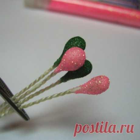 Как сделать тычинки для цветов?