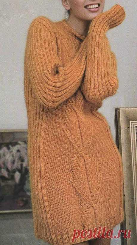 Dress of color of a tangerine | Shkatulochka for needlewomen